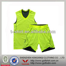 floresent &black double face basketball jersey
