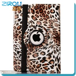 cheap price leather case for ipad, leopard print cover case for ipad mini, tablet pc case supplier