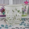 moderna vasos de cerâmica com desenho de folha