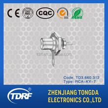 RCA rf coaxial connector for amplifier