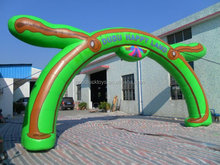 inflatable light green and brown arch/inflatable arches/inflatable gate/