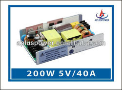5v 40A wall led driver with CE certificate