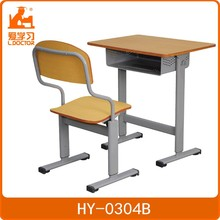 Metal Middle school student's study table and chair