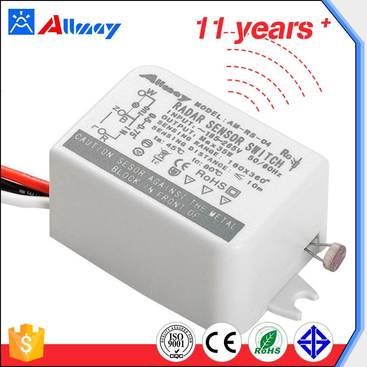 Vente chaude populaire poids léger 35 W éclairage commutateur led micro-ondes capteur on/off commutateur électronique