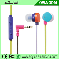 Popular Sale fabric earbud earphone mic for china sale