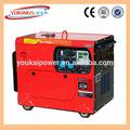 5.5kw Generador portátil con aire frío motor diesel