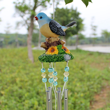 Decoraive resin bird and metal wind chime wholesale