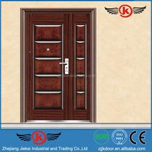 JK-S9056 reinforced door steel wrought iron double door