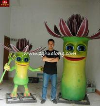 2M high flower man robotic cartoon