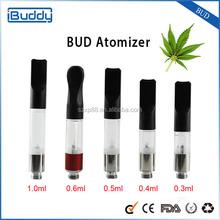 Best refillable atomizer BUD vape pen popular in USA patent bud vaporizer pen different atomizer 1.0/ 0.6/ 0.4/ 0.3 available