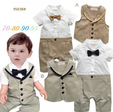 2015 Summer New Born Kids Clothes Boys Jumpsuit Great Quality Suits Boy Baby Rompers