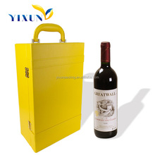 Popular PU leather Wine Box Packaging in different shape