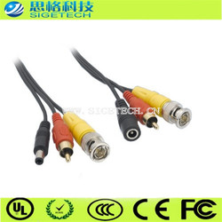 1118 sigetech av bnc rca dc combination cable