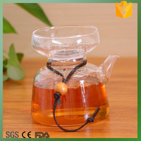 high quality heat resistant glass tea pot coffee cup with strainer