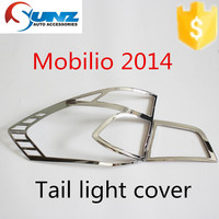 Tail light cover chromed FOR Mobilio 2014 - chrome rear amp cover decorative led exterior for India market car accessories