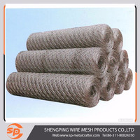 hot-dipped galvanized hexagonal gabion mesh / gabion cages for sale