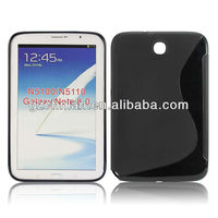 2013 new hot selling tablet S line TPU gel case for Samsung N5100 Galaxy Note 8.0