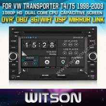 WITSON DVD GPS FOR VW TRANSPORTER T4 1998-2009 STEERING WHEEL CONTROL FRONT DVR CAPACTIVE SCREEN