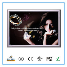 Novelty LED light box display for luxury jewelry shops
