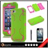 Keno Wholesale Cell Phone Accessory for iPhone 5 Case, Robot 3 in 1 Combo Hybrid Defender High Impact Body Case for iPhone 5 5S