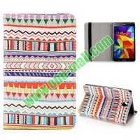 Colorized Tribal Style Pattern Flip Stand PU Leather Case for Samsung Galaxy Tab 4 7 inch T230