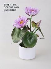 Venta al por mayor mano arreglo floral para la decoración de interior