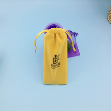 Fancy gift Eco natural drawstring mobile hanging pouch