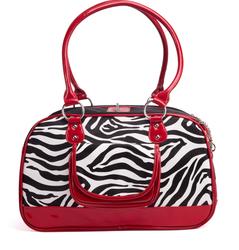 Manufacturer cheap high quality pet stripe carrier for dogs rabbits wholesale pet leopard bag