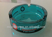 Solid color glass ashtray