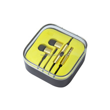 High Quality Stereo Bass Headset In Ear gold earohone with Mic 3.5mm for iPhone Samsung Xiaomi CS