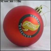 Wholesale Hanging Indoor 100mm Clear Tree Plastic Ornament Christmas Ball