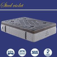 Luxury bamboo fabric compress euro top memory foam mattress