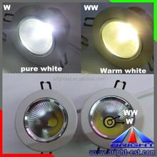 WW+W COB down light, LED ceiling spot light 220V with 2 year warranty
