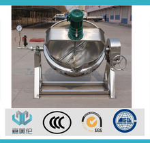 electric gas steam stainless steel food cooking process inclined jacketed kettle