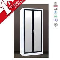 Free standing bedroom wardrobe with sliding mirror doors / laminate wardrobe designs