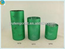 decorative art spray Cylinder candle holder