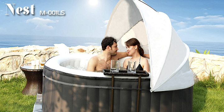 MSpa Nest M-001LS Inflatable Spa pool, Oval 2 person Hot Tub