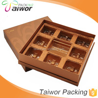 Chocolate brown cake boxes, Kraft paper with a window packaging paper