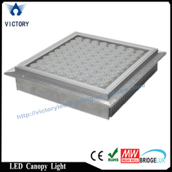 70w 100w 120w 150w led gas station canopy lights with meanwell driver