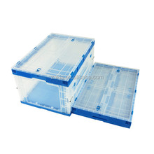 Family use plastic box foldable feature storage container with side door