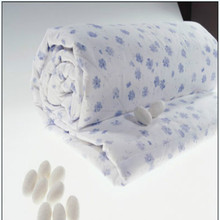Pure Silk Quilt/Duvet/Comforter with Top Quality in China (Filler 1.5 kg)