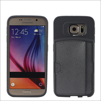 pu leather mobile cell phone case cover for samsung galaxy pocket, for samsung s6