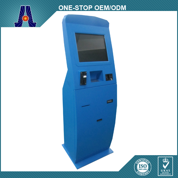 Automatic Card Reader ~ Automatic self service ordering payment terminal with card