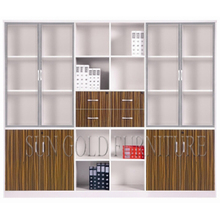 Modern Chinese Antique Hot Selling Office Wood File Cabinet with Glass Door(SZ-FC072)