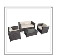 China Garden Rattan Furniture Sofa Sets
