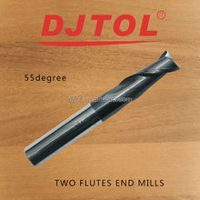 end mill for cutting metal(double flutes spiral end mill)