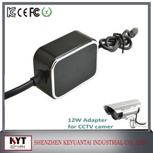 KC CE FCC ROHS certified photo video travel adapter, 12W 12v power adapter cctv camera adapter charger
