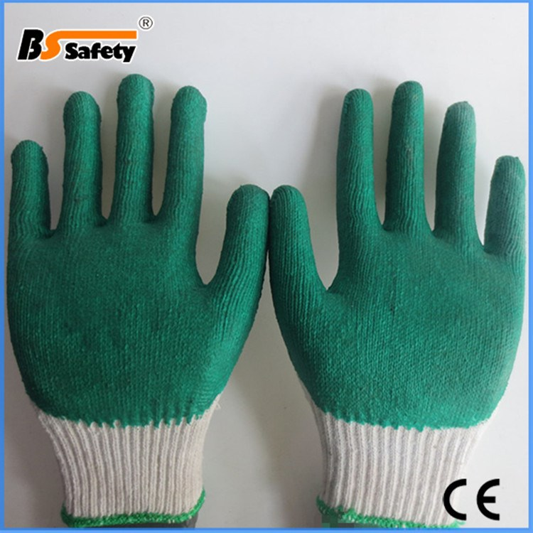 bssafety pas cher jetable vert latex gants pour les travaux de construction gants de s curit id. Black Bedroom Furniture Sets. Home Design Ideas