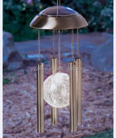 Solar Powered Light Wind bell Chimes Stainless Steel & Glass ball Yard Garden Decor