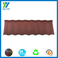 Rain noise reducing stone coated metal roofing tile